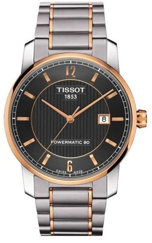 Tissot T-Classic Two-Tone Titanium Automatic Black Dial Men's Watch T087.407.55.067.00
